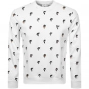 Product Image for Lacoste Logo Crew Neck Sweatshirt White