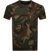 Product Image for Ralph Lauren Camo Pocket T Shirt Green