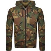 Product Image for Ralph Lauren Full Zip Hoodie Khaki