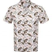 Product Image for Les Deux Latif Flower Short Sleeved Shirt Cream