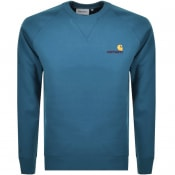 Product Image for Carhartt Script Logo Sweatshirt Blue
