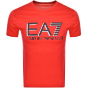 Product Image for EA7 Emporio Armani Crew Neck Logo T Shirt Red