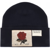 Product Image for Kent And Curwen Rose Beanie Hat Navy