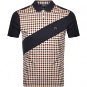 Product Image for Aquascutum Grantham Club Check Polo T Shirt Navy