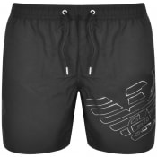 Product Image for Emporio Armani Logo Swim Shorts Black