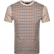 Product Image for Aquascutum Greg Club Check T Shirt Beige