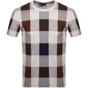 Product Image for Aquascutum Kenneth Large Club Check T Shirt Brown