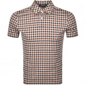 Product Image for Aquascutum Andy Short Sleeve Polo T Shirt Brown