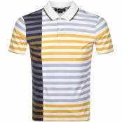 Product Image for Aquascutum Northfleet Striped Polo T Shirt White