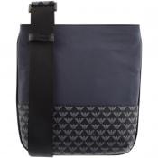 Product Image for Emporio Armani Logo Shoulder Bag Navy