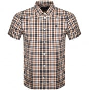 Product Image for Aquascutum Tartan Short Sleeve Shirt Brown