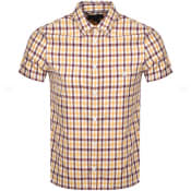 Product Image for Aquascutum York Check Short Sleeve Shirt Burgundy