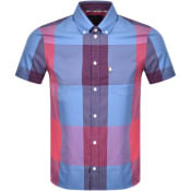 Product Image for Aquascutum Henlake Check Short Sleeve Shirt Pink