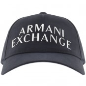 Product Image for Armani Exchange Logo Baseball Cap Navy