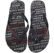 Product Image for Armani Exchange Logo Flip Flops Navy