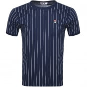 Product Image for Fila Vintage Guilo Pinstripe T Shirt Navy