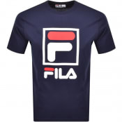 Product Image for Fila Vintage Jack Crew Neck T Shirt Navy