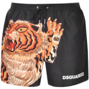 Product Image for DSQUARED2 Tiger Print Swim Shorts Black
