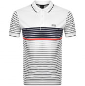 Product Image for BOSS Paddy 7 Striped Polo T Shirt White