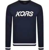 Product Image for Michael Kors Crew Neck Logo Sweatshirt Navy
