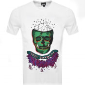 Product Image for Just Cavalli Skull Logo T Shirt White