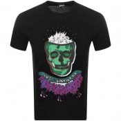 Product Image for Just Cavalli Skull Logo T Shirt Black