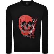 Product Image for Just Cavalli Crew Neck Logo Sweatshirt Black