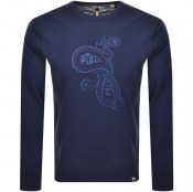 Product Image for Pretty Green Marshall Crew Neck Sweatshirt Navy
