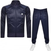 Product Image for Money Tape Logo Full Zip Tracksuit Navy