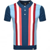 Product Image for Pretty Green Crew Neck Knit Polo Jumper Blue