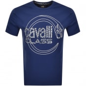 Product Image for Cavalli Class Crew Neck Logo T Shirt Blue