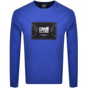 Product Image for Cavalli Class Crew Neck Logo Sweatshirt Blue