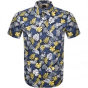 Product Image for BOSS Rash Short Sleeved Shirt Navy