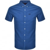 Product Image for Superdry Oxford Short Sleeved Shirt Blue