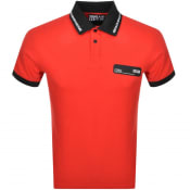 Product Image for Versace Jeans Couture Logo Polo T Shirt Red
