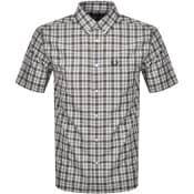 Product Image for Fred Perry Small Check Short Sleeved Shirt Green