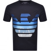 Product Image for Emporio Armani Crew Neck Logo T Shirt Navy