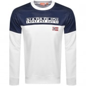 Product Image for Napapijri Bito Logo Sweatshirt White