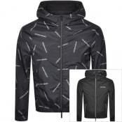 Product Image for Emporio Armani Reversible Logo Jacket Black