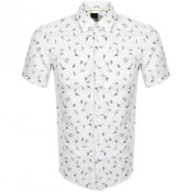 Product Image for BOSS Ronn Slim Fit Short Sleeve Shirt White