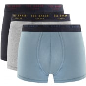 Product Image for Ted Baker Underwear Triple Pack Boxer Trunks Navy