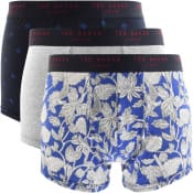 Product Image for Ted Baker Underwear Triple Pack Boxer Trunks Blue
