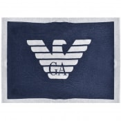 Product Image for Emporio Armani Large Logo Beach Towel Navy
