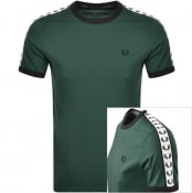 Product Image for Fred Perry Taped Ringer T Shirt Green