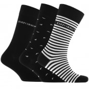 Product Image for Emporio Armani 3 Pack Sock Gift Set Black