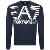 Product Image for EA7 Emporio Armani Logo Sweatshirt Navy