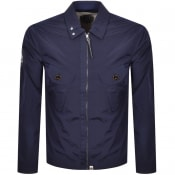 Product Image for Pretty Green Zip Through Overshirt Jacket Navy