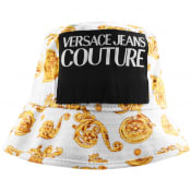 Product Image for Versace Jeans Couture Logo Bucket Hat White
