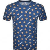 Product Image for Moschino All Over Bear T Shirt Navy