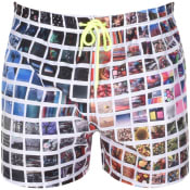 Product Image for PS By Paul Smith Instant Photos Swim Shorts White